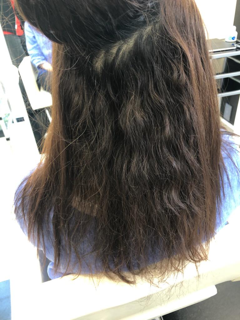 細くてダメージの出やすい髪への縮毛矯正