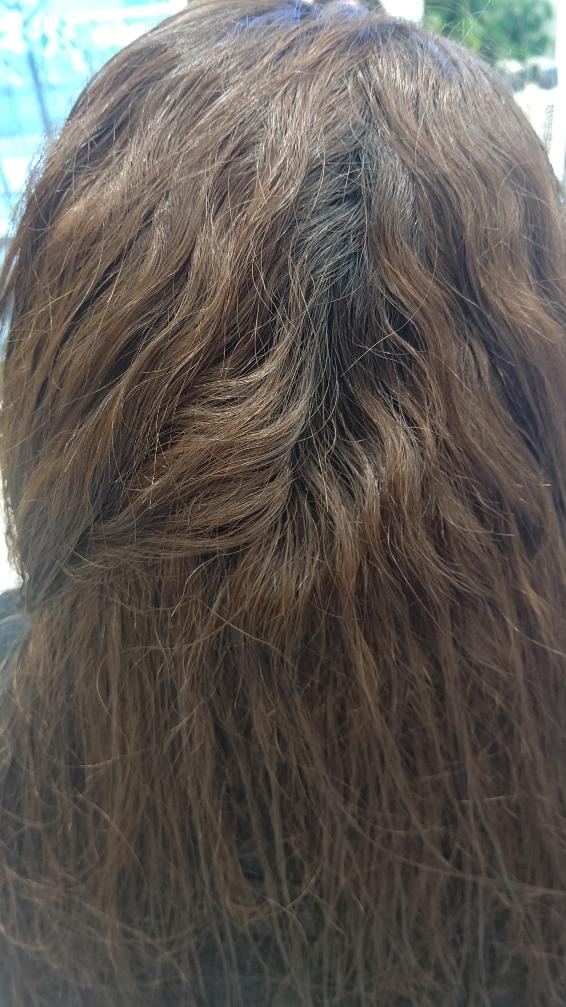 強い癖毛と強いダメージ